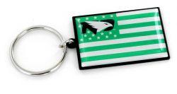 NORTH DAKOTA AMERICANA FLAG KEYCHAIN