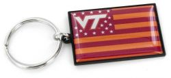 VIRGINIA TECH AMERICANA FLAG KEYCHAIN