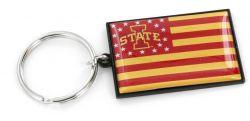 IOWA STATE AMERICANA FLAG KEYCHAIN