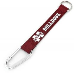 MISSISSIPPI STATE CARABINER LANYARD KEYCHAIN