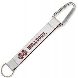 MISSISSIPPI STATE REFLECTIVE CARABINER LANYARD KEYCHAIN