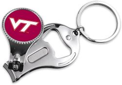 VIRGINIA TECH NAIL CLIPPER/BOTTLE OPENER KEYCHAIN