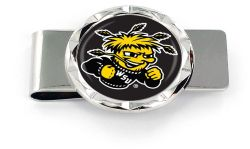 WICHITA STATE DIAMOND CUT MONEY CLIP