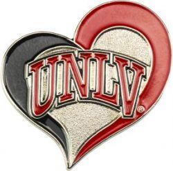 UNLV SWIRL HEART PIN