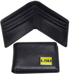LSU LEATHER RFID TRAVEL WALLET (OC)
