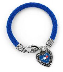 BLUE JAYS (BLUE) BRAIDED BRACELET