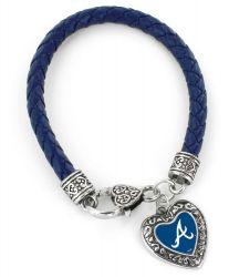BRAVES (NAVY BLUE) BRAIDED BRACELET