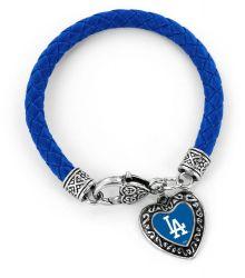 DODGERS (BLUE) BRAIDED BRACELET