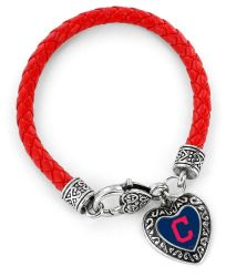 INDIANS (RED) BRAIDED BRACELET