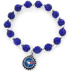 BLUE JAYS (BLUE) PEBBLE BEAD STRETCH BRACELET