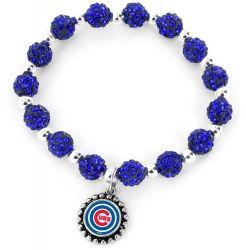 CUBS (BLUE) PEBBLE BEAD STRETCH BRACELET