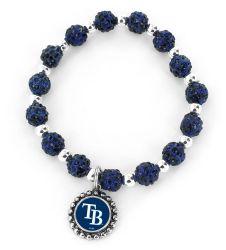 RAYS (NAVY BLUE) PEBBLE BEAD STRETCH BRACELET