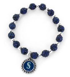 MARINERS (NAVY BLUE) PEBBLE BEAD STRETCH BRACELET