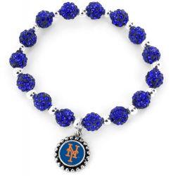 METS (BLUE) PEBBLE BEAD STRETCH BRACELET