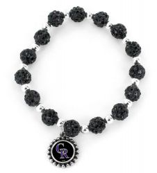 ROCKIES (BLACK) PEBBLE BEAD STRETCH BRACELET