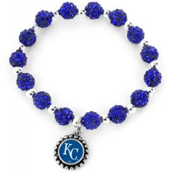 ROYALS (BLUE) PEBBLE BEAD STRETCH BRACELET