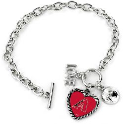 DIAMONDBACKS LOVE BASEBALL BRACELET
