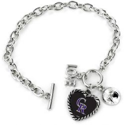 ROCKIES LOVE BASEBALL BRACELET