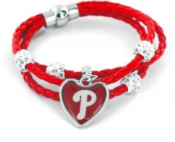 PHILLIES (RED) BRAIDED CORDS BRACELET (OC)