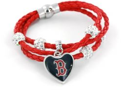 RED SOX (RED) BRAIDED CORDS BRACELET (OC)