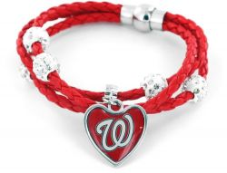 NATIONALS (RED) BRAIDED CORDS BRACELET (OC)