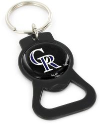 ROCKIES (BLACK) BOTTLE OPENER KEYCHAIN