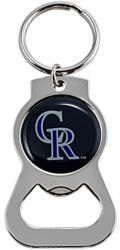 ROCKIES METAL BOTTLE OPENER KEYCHAIN
