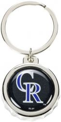 ROCKIES BOTTLE CAP BOTTLE OPENER KEYCHAIN