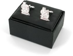 CARDINALS CUTOUT CUFF LINKS WITH BOX