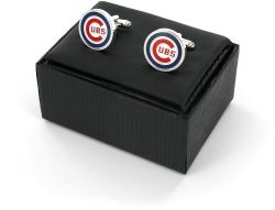 CUBS CUTOUT CUFF LINKS WITH BOX