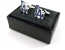 DODGERS CUTOUT CUFF LINKS WITH BOX