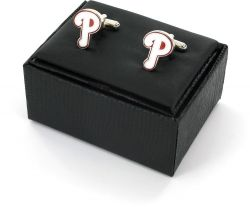 PHILLIES CUTOUT CUFF LINKS WITH BOX