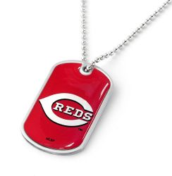 REDS DOMED DOG TAG