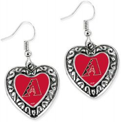 DIAMONDBACKS HEART EARRINGS