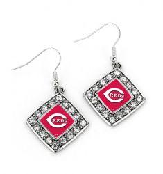 REDS CRYSTAL DIAMOND EARRINGS
