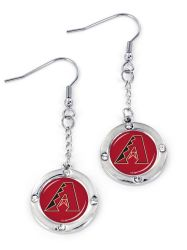 DIAMONDBACKS ROUND CRYSTAL DANGLER EARRINGS (FJ-1023)