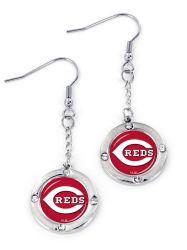 REDS ROUND CRYSTAL DANGLER EARRINGS (FJ-1023)