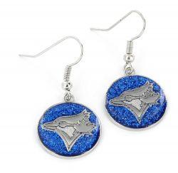 BLUE JAYS GLITTER DANGLER EARRINGS