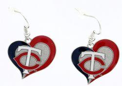 TWINS SWIRL HEART EARRINGS