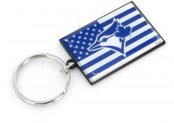 BLUE JAYS AMERICANA FLAG KEYCHAIN