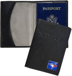 BLUE JAYS RFID LEATHER PASSPORT COVER  (OC)