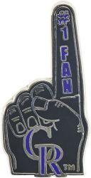ROCKIES #1 FAN PIN