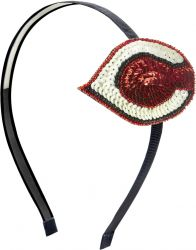 REDS SEQUINS & BEADS HAIR BAND