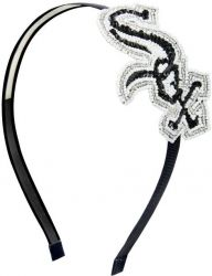 WHITE SOX SEQUINS & BEADS HAIR BAND