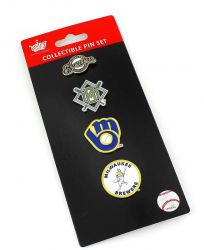 BREWERS LOGO EVOLUTION COLLECTIBLE PIN SET