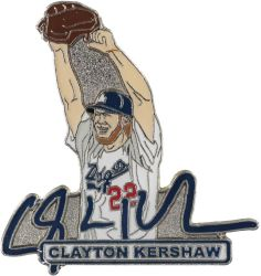 DODGERS KERSHAW ARMS UP SIGNATURE PIN
