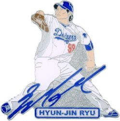 DODGERS RYU SIGNATURE PIN
