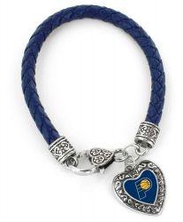 PACERS (NAVY BLUE) BRAIDED BRACELET