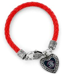 RAPTORS (RED) BRAIDED BRACELET