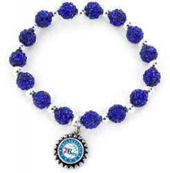76ERS (BLUE) PEBBLE BEAD STRETCH BRACELET
